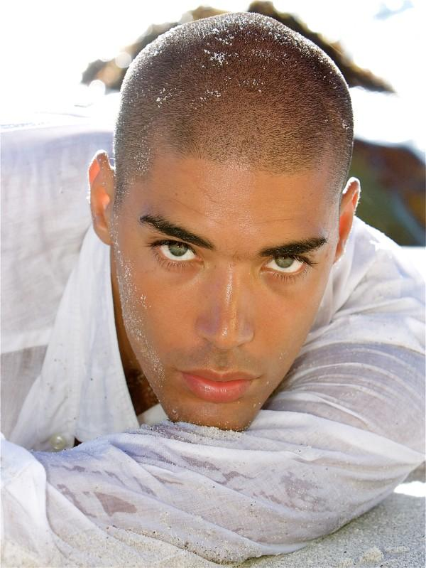 Black Man Model with Colored Eyes