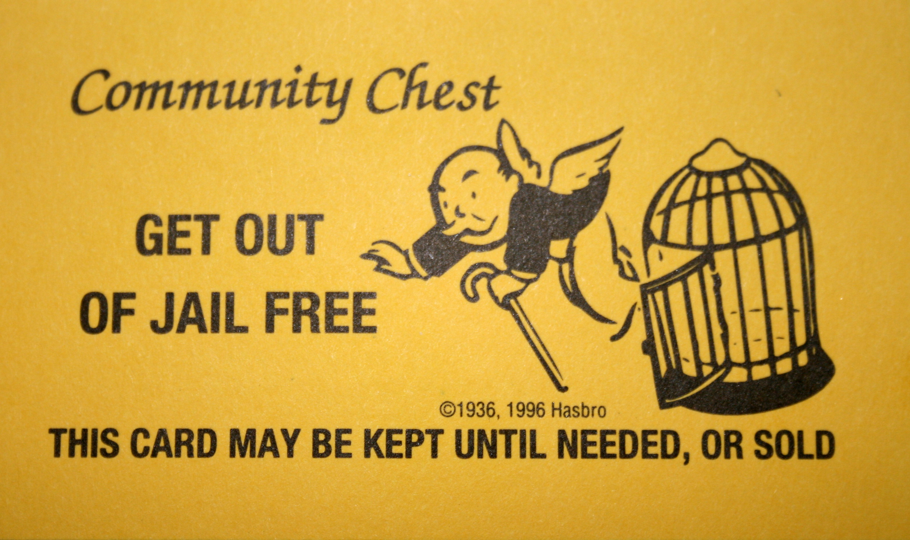 get out of jail free card template rigging markets how to determine if you will go to jail