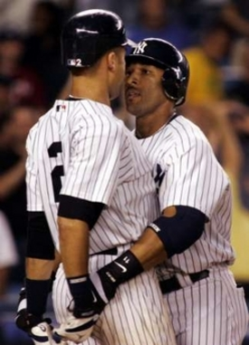 Arod grabs jeters ass can